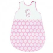 Бебешки летен спален чувал Lorelli 0-6 месеца, Розови Кръгове, 0746848