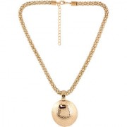 Jazz Party wear Yellow Gold Plated Fashion Style Long Pendant Necklace for Ladies Girls
