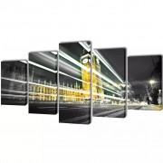 vidaXL Canvas Wall Print Set London Big Ben 200 x 100 cm