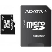 Card A-DATA microSDHC 4GB (Class 4) + Adaptor SD