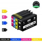 Merkloos - Inktcartridge / Alternatief voor de HP-932XL / HP 932XL voor HP Officejet 6700 Premium, 7110 Wide Format ePrinter - Zwart / Cyaan / Magenta / Geel / Multipack