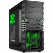 Sharkoon Middle VG4-W, Window, Black w/Green Led