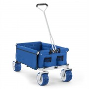 Waldbeck The Blue, синя, ръчна количка, сгъваема, 70 kg, 90 l, колело Ø10 cm (WGO-The-Blue)