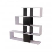HOMCOM Libreria di Design in legno 145x30x145cm - Mobili Ufficio Scaffale
