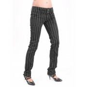 nadrág női Mode Wichtig - Pretty Low-Cut Pin Stripe - M-1-07-050-01