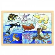Puzzle Viata polara Goki, 24 piese, lemn