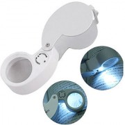 40x 25mm Illuminated Jewelers Loupe Magnifier Magnifying Eye Glass