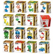 Modeling Clay set of 16-box individual Art Clay Assorted Characters cute mini figures Super Hero Dino's veg&fruits sculpting clay dough set - Follow the instructions or create your Owen unique model