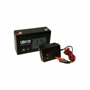 6V 12Ah SLA Battery UB6120 and Remington Charger Combo Pack