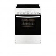 Готварска печка Zanussi ZCV65201WA, Стъклокерамичен плот, Клас А,Бяла