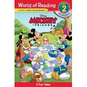 World of Reading Mickey and Friends 3-In-1 Listen-Along Reader (World of Reading Level 2): 3 Fun Tales with CD! 'With Audio CD', Paperback/Disney Book Group