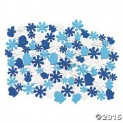 500 Foam SNOWFLAKE & Mitten BEADS - WINTER CRAFT Projects for KIDS - Beading Activity SUPPLIES - Blue & White - FROZEN