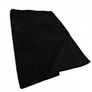 Twotags Microfibre Zip Pocket Large Towel Black