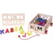 Camion de tras din lemn cu sortator literele alfabetului - Krista and reg