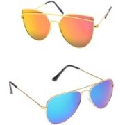 Amour-Propre Sports Sunglasses(Blue, Yellow)