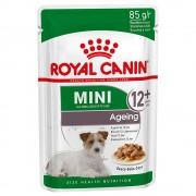 12 x 85g Ageing Mini Royal Canin Hrană umedă câini