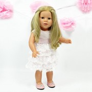 Lace Birthday Dress For American Girl Dolls Special Occasion Dress Fits 18 Inch Dolls American Girl Doll Clothes
