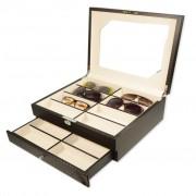 Scatola porta 16 paia di occhiali carbon Fiber