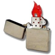 "Flacara Zippo - ""The name in the Flame"""