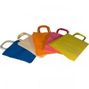 Borse in carta colorata Rex Sadoch SDF46LIT - 239525 Formato 46x16x49 cm - Colore assortiti pastello - Confezione da 25 - SDF46LIT