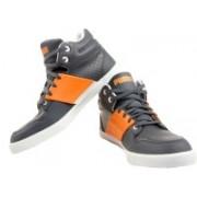 Puma El Ace 2 Mid Pn Sneakers For Men(Grey, Orange)