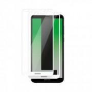 Set 2 folii protectie sticla securizata fullsize pentru Huawei Mate 10 Lite / Nova 2i / HONOR 9i alb