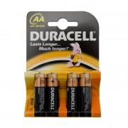 Set 4 baterii alcaline Duracell AA