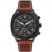 Reloj Bulova 98b245 Para Hombre-Negro Con Marrón