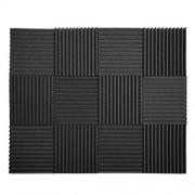 "12 Pack Set Acoustic Panels, Acoustic Foam Panels, Studio Wedge Tiles, Sound Panels wedges Soundproof Sound Insulation Absorbing 1"" X 12"" X 12"""