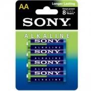 Батерия Sony Alkaline, LR6-AA, Stamina Alkaline green, 4 бр., AM3L-B4D