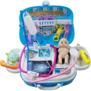 Toys Factory Beautiful Dream Medical Suitcase Pretend Play Doctor Set for Kids (18 Pieces)