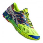 Asics Speed Shoes Gel-Noosa Tri 10 Midnight/Flash Ylw/Grn (4907) (US 8)