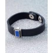 Dare by Voylla Milestone Rectangular Charm Leather Bracelet