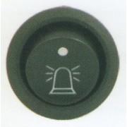 Comutator rotund Pornit/Oprit 12V cu dubla iluminare - Indicator girofar Girofar/LED indicator functionare
