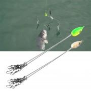 ER Conveniente Pesca Señuelos de pescado al aire libre de múltiples funciones de los trastos de combinación-Verde.
