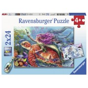 PUZZLE AVENTURA SIRENEI, 2X24 PIESE - RAVENSBURGER (RVSPC07834)