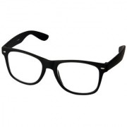 HH (CmptrBlack) Clear Wayfarer Sunglass For Men Women (Black Frame)