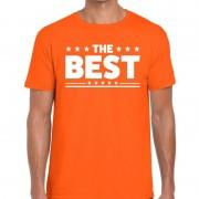 Bellatio Decorations The Best tekst t-shirt oranje heren
