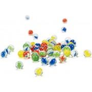 Set cu 50 de bile colorate, Hape, Quarilla Marbles