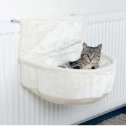 Trixie fűtőtestre szerelhető puiha zsák macskáknak-H 45 × Sz 33 × M 30 cm - fehér