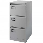 Filing Cabinet 3 Drawer Grey