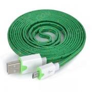 USB macho a macho de datos Micro USB cable de carga para Samsung / HTC / Sony / Xiaomi / LG + Mas - Verde