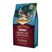 Hrana uscata pentru pisici Carnilove Cat Sensitive & Long Hair cu Somon, 2 Kg