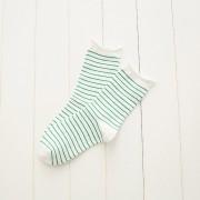 Sueltos Calcetines de Deportes de Color de Caramelo de Enrolle Calcetines de Medio Tubo a Rayas para las Mujeres y Chicas