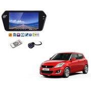 7 Inch Full HD Bluetooth LED Video Monitor Screen with USB Bluetooth + 8 LED Reverse Parking Camera For Maruti Suzuki Swift