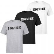 Domestique Men's T-Shirt - Black - XL - Grey