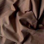 Uni, egyszínű pamutvászon, mogyoróbarna