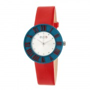 Crayo Prestige Unisex Watch - Teal/Red CRACR3107