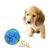 Pet Food Dispenser Squeaky Risita Quack Sound Formación Toy Masticar Bolas, Tamaño: M, Diámetro De La Bola: 9.2cm (azul)