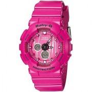 Casio Baby-g Analog-Digital Pink Dial Womens Watch-BA-120SP-4ADR (B175)